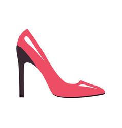 stylish pink stilleto shoe isolated vector image vector image