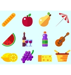 Summer picnic icon vector image
