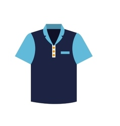 Tennis blue tshirt graphic icon vector