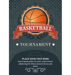 Basketball tournament background or poster Design vector image