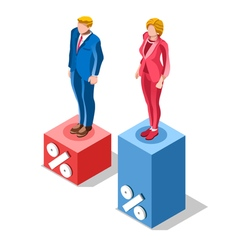 Election infographic pools presidential isometric vector