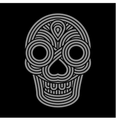Parallel lines skull symbol on black background vector