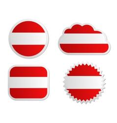 Austria flag labels vector image