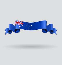 Australian wavy flag vector