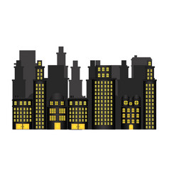 Urban cityscape and residential apartments scene vector