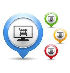 Internet shop icon vector