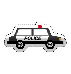Police patrol isometric icon vector