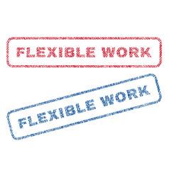 Flexible work textile stamps vector