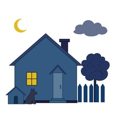 House at night vector
