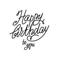 Handwriting happy birthday card vector