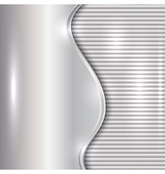 Abstract silver background with curve and stripes vector