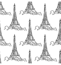 Eiffel tower seamless background pattern vector