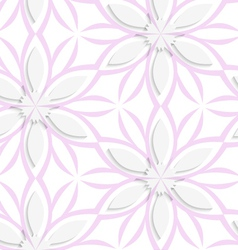 White floral with pink layering seamless vector
