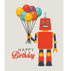Robot design over gray background vector