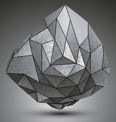 Grunge metallic dimensional object created from vector