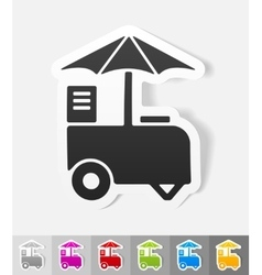 Realistic design element ice cream van vector
