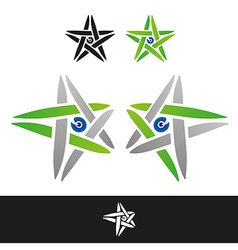 Twisted star sign vector