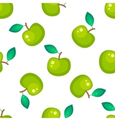 Green apple fruit seamless pattern vector