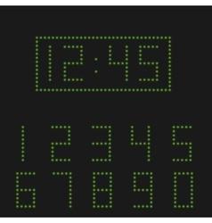 Green digital numbers vector