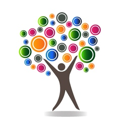 Abstract people tree vector image