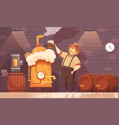 beer brewer vector image