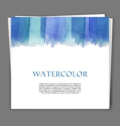 Card with Hand painted watercolor texture vector image vector image