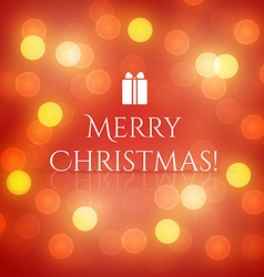 Christmas Greeting Card with lights vector image