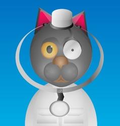 Doctor cat vector