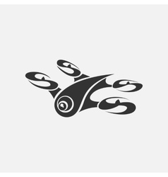 Drone logo on a white background vector