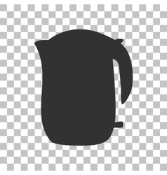 Electric kettle sign Dark gray icon on vector image
