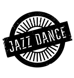 Famous dance style jazz dance stamp vector