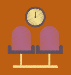 flat icon in shading style airport waiting room vector image vector image