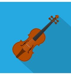 Flat violin vector