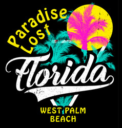 Florida summer tee graphic design vector