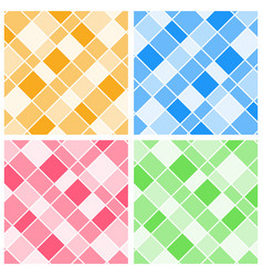 Four background templates with colorful grids vector