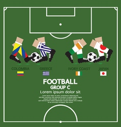 Group c 2014 football tournament vector