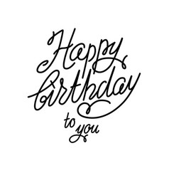Handwriting happy birthday card vector