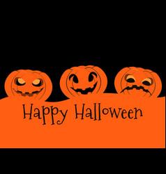 happy halloween pumpkin jack o lantern icon vector image vector image
