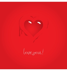 heart love vector image vector image