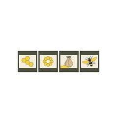 Honey Icon Set 380x400 vector image