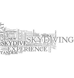 Is it easy to skydive in new jersey text vector