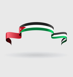 Jordan flag background vector