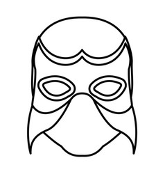 Monochrome silhouette with wrestler mask vector