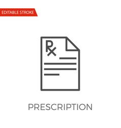 prescription icon vector image vector image