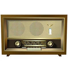 Retro radio isolated on a white background vector