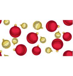 seamless christmas pattern with christmas balls vector image vector image