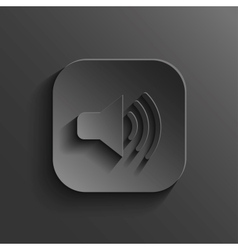 Speaker icon - black app button vector image vector image