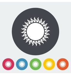 Sun flat icon vector image vector image