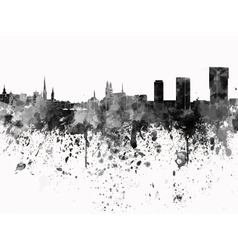Zurich skyline in black watercolor on white vector