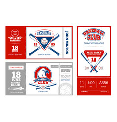 baseball sports ticket design with vintage vector image